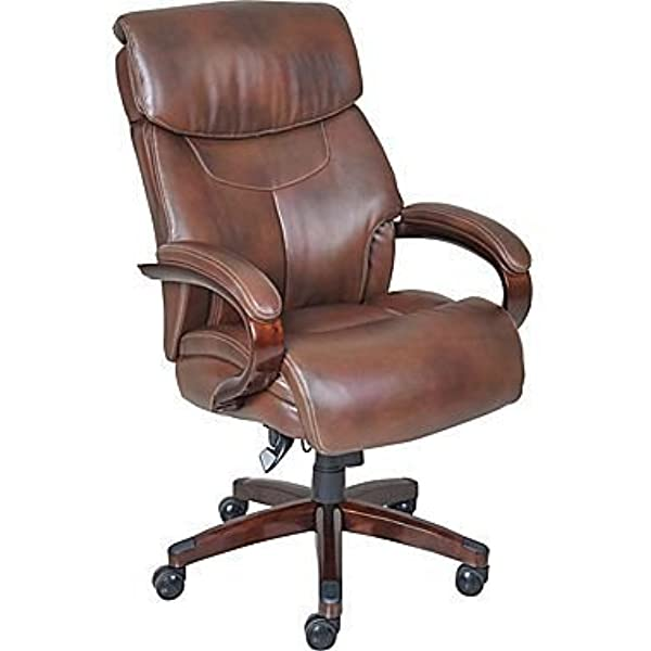 Amazon Com La Z Boy Executive Chair Leather Mahogany Furniture Decor
