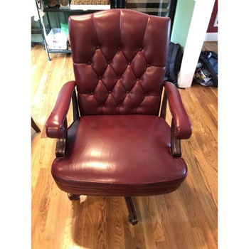 Executive Nail Head Burgundy Leather Rolling Arm Desk Wing Chair Executive Leather Office Chair Buy Executive Nail Head Burgundy Leather Rolling Arm Desk Wing Chair Executive Leather Office Chair Genuine Leather Office Chair Product